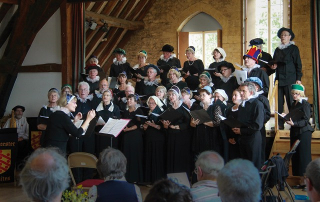 The Tan House Singers in Elizabethan mode
